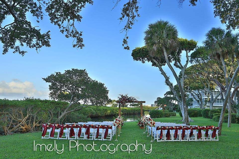 Full View of Longboat Key Wedding Site