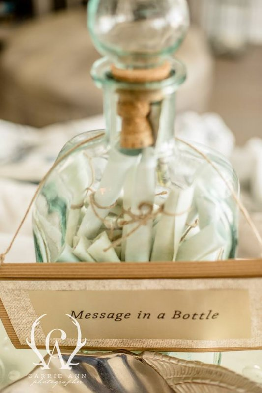More Fun Wedding Details Message in a Bottle