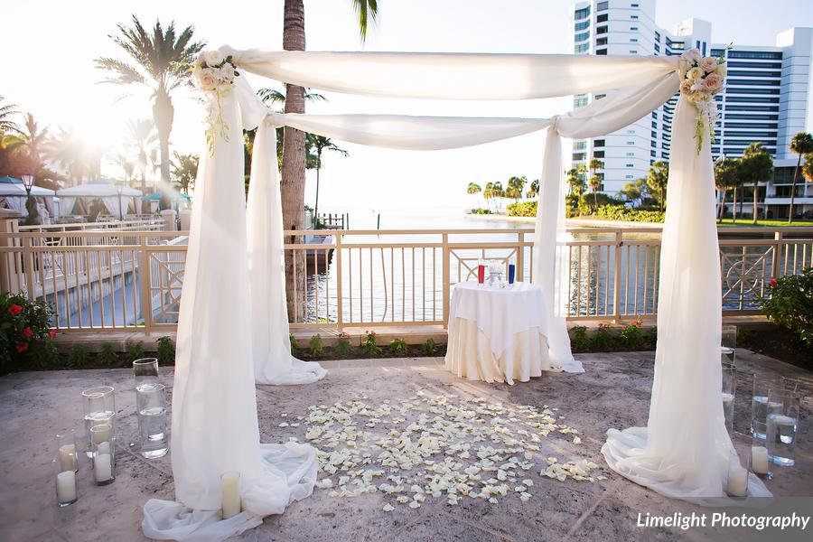 Canopy with Rose Petals on Bayview Terrace Ritz Carlton