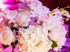 Table Centerpiece with Hydrangea, Roses, and Orchids