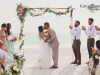 Kiss Under the Wedding Arch