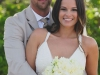 Happy Couple with Peonies Bridal Bouquet