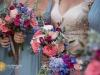 Bride and Bridesmaid Garden Look Bouquets