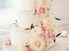 Wedding Cake with Blush Flowers