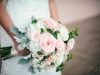 Bride's Garden Bouquet in Pink and Cream Colors with Dusty Miller