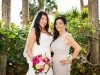 Bride and Mother with Bouquet and Slap Corsage