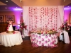 Carnation Runners Behind Sweetheart Table