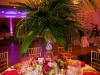 Reception Table Centerpiece with Palms and Roses