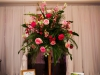 Flower Arrangement with Gold Pedestal
