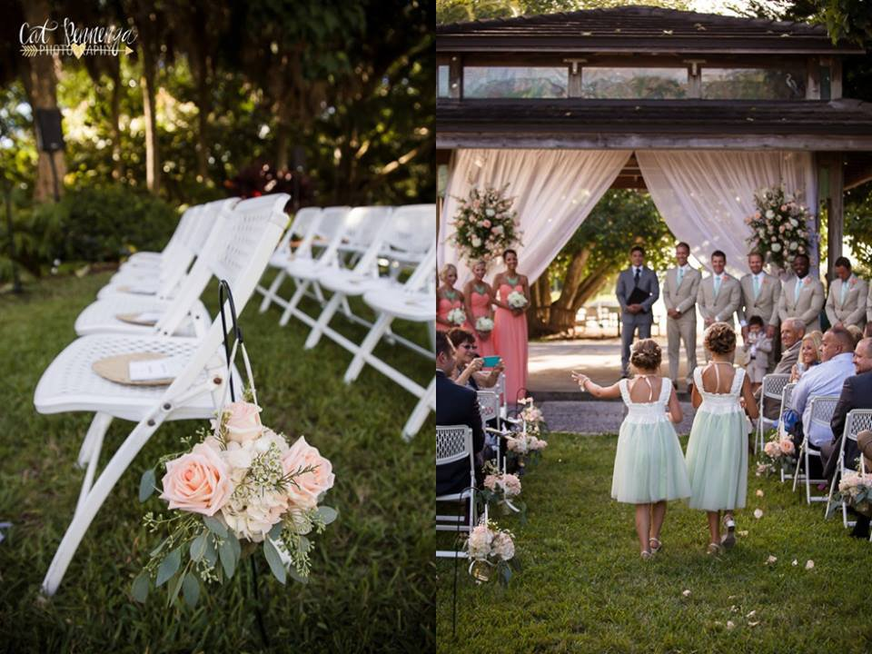 Aisle Flowers and Flowers with Draping