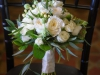 Bridal Bouquet of White Roses and Greenery