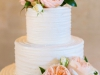 Wedding Cake with Garden and Spry Roses