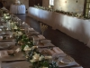 Feasting Tables with Garland and Mondial Roses