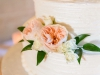 Close-Up of Juliette Garden Roses on Cake