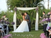 Ceremony Arch with Bride and Groom