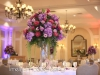 Elevated Table Centerpiece in purples and plums