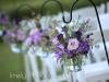 Shepherd's Hook with Purple Flowers