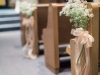 Baby's Breath and Sheer Peach Ribbon on Aisle