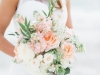 Garden Look Bridal Bouquet in Peach and Cream