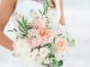 Garden Look Bridal Bouquet in Peach and Cream