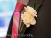 White Double Spray Rose for Groom's Boutonniere