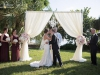 Wedding Arch With Couple and Chandelier from Affairs in the Air