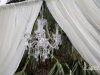 Chandelier on Wedding Arch