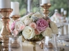 Gold Candles and Mercury Footed Bowl Centerpieces