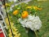 Shepherd Hooks with Flowers in Mason Jars