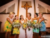Roser Chapel with Bridal Party and Bouquets