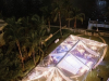 Top View of Clear Tent with Candles on Tables