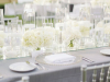 All-White Head Table with Candles and Mirror