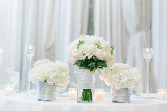 Bridal Bouquet on Sweetheart Table