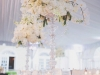 Elevated Family Table Arrangements with Orchids, Hydrandgea, Roses, and Crystals