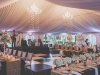 Tented Reception with Trailing Orchids