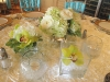 Green and white centerpiece cubes