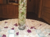 Beautiful placed card table with submerged orchids