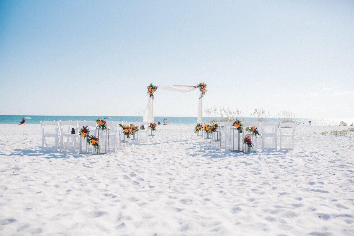 Ceremony Site at Sandbar Beach Anna Maria Island Florida