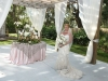 Bride by the Place Card Table