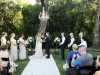 Ceremony Site with Chandelier and Flowers