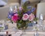 Reception centerpieces in pink and blue