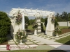 Decorated gazebo for garden wedding