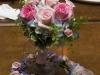 pink-roses-blue-hydrangea bridesmaids bouquet