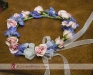 flower girl wreath in pink and blue