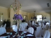 Wedding centerpieces of pruple hydrangea and branches