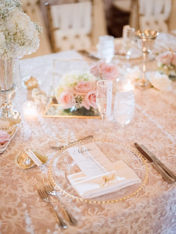 Floral Detail on Vintage Feasting Table