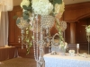 Bling Candleabra with Hanging Pearls and Flowers