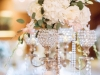 Bling Candleabra with Blush Cream Flowers with Pearls