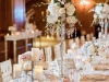 Vintage-Look Feasting Table with Bling, pearls, and draping