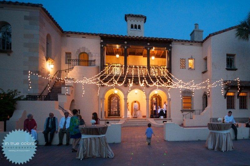 Powel Crosley Estate with lights, destination wedding